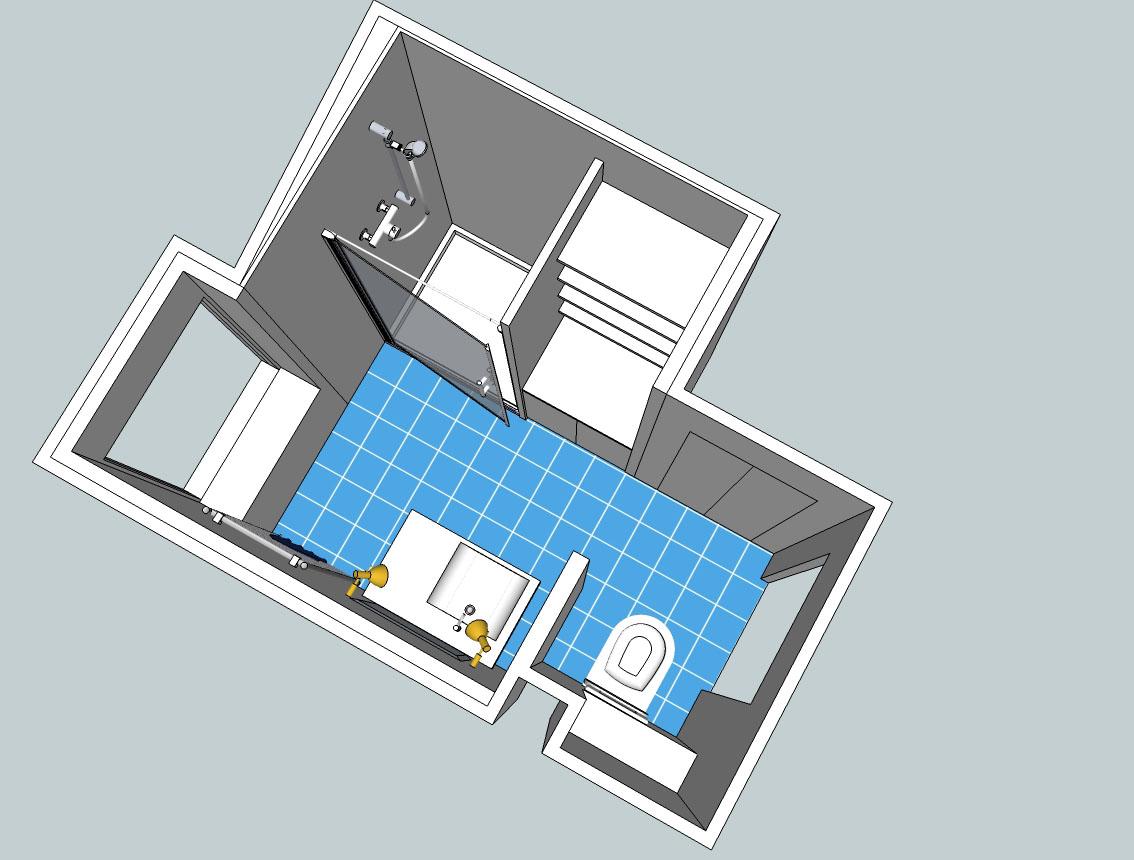 plan salle d eau. Black Bedroom Furniture Sets. Home Design Ideas