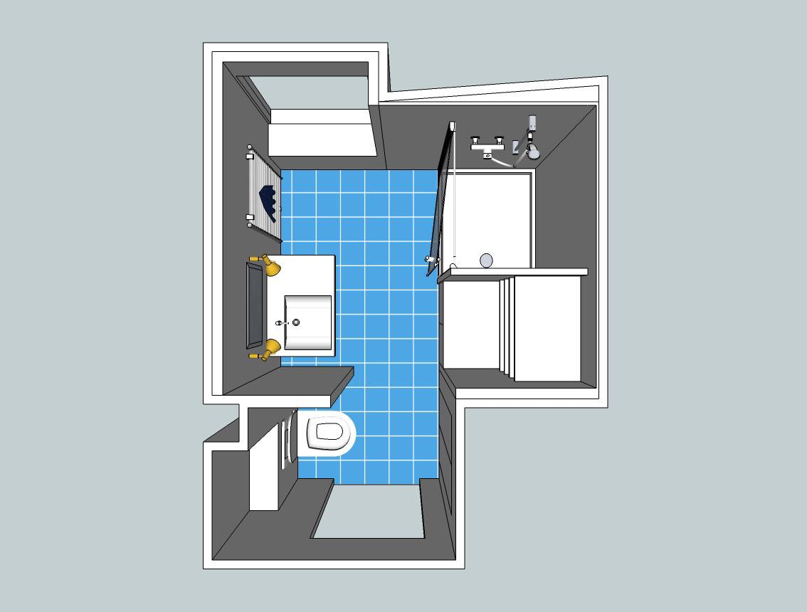 projet r novation salle d 39 eau belon maison service francais. Black Bedroom Furniture Sets. Home Design Ideas
