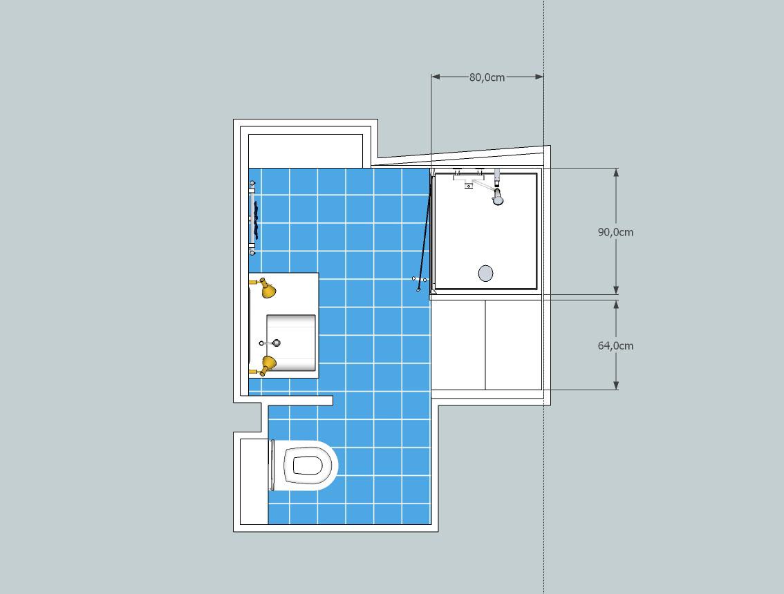 salle d eau 3m2 salle de bain avec douche a l italienne. Black Bedroom Furniture Sets. Home Design Ideas